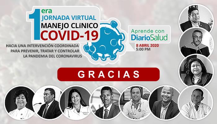 Desarrollan  Ira. Jornada Virtual Manejo Clínico del COVID-19