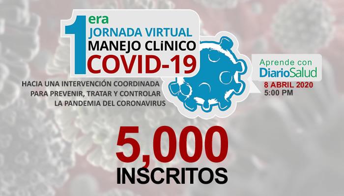 I Jornada de Manejo Clínico COVID-19: más de 5 mil inscritos en 24 horas