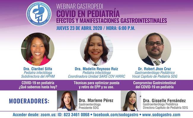 """Webinar  """"COVID en Pediatría Efectos y Manifestaciones gastrointestinales"""""""