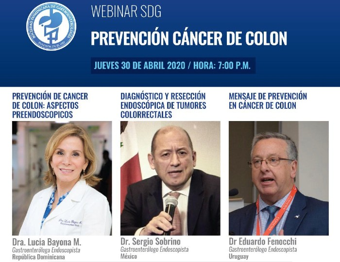 La Sociedad Dominicana de Gastroenterología invita a webinar sobre cáncer de colon