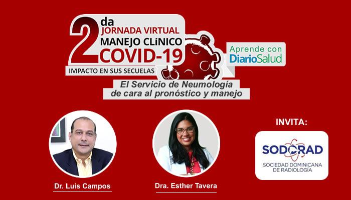 2da. Jornada manejo Clínico de COVID-19 tratará hoy sobre neumología y Radiología