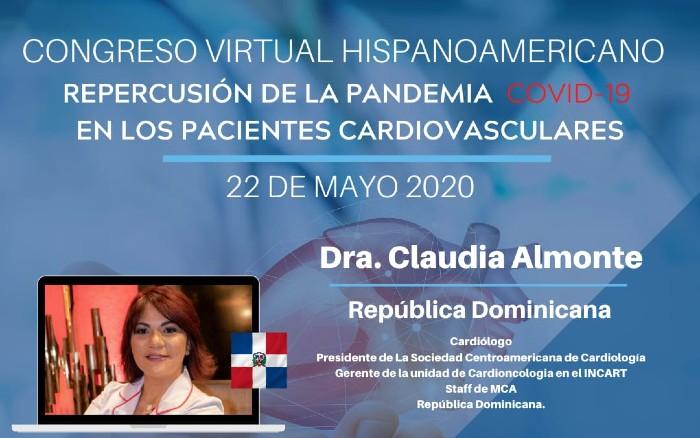 Doctora Claudia Almonte participará en congreso virtual hispanoamericano
