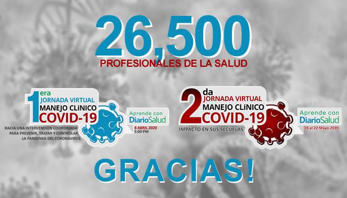 Más de 26,500 personas se capacitan en jornadas de manejo del COVID-19
