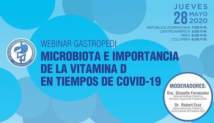 Sociedad Gastroenterología invita a webinar sobre Microbiota y Vitamina D