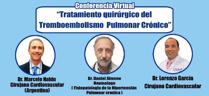 Sociedad Cirugía Cardiovascular realiza conferencia sobre Tromboembolismo Pulmonar Crónico