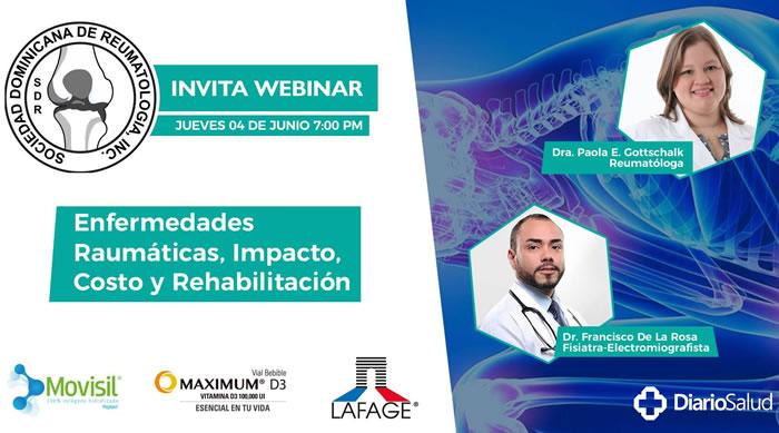 """Sociedad Reumatología invita a conferencia """"Enfermedades reumáticas, impacto, costo y rehabilitación"""""""