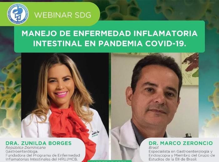 Sociedad de Gastroenterología invita a webinar sobre enfermedad inflamatoria intestinal