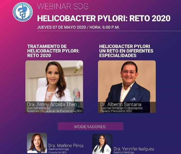 La Sociedad Dominicana de Gastroenterología invita a webinar sobre Helicobacter Pylori