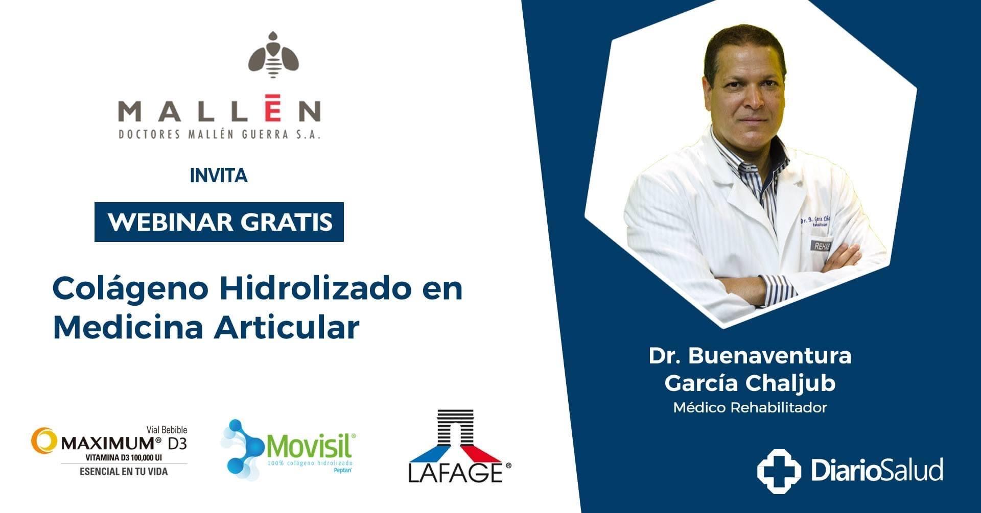 """Doctores Mallén realiza con éxito  webinar """"Colágeno Hidrolizado en Medicina Articular"""""""