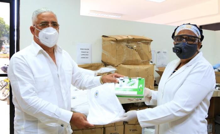 Donan equipos de protección al Hospital  Salvador B. Gautier
