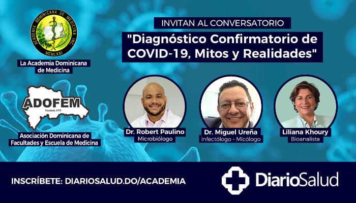 Academia Medicina invita a conversatorio sobre diagnóstico confirmatorio de COVID-19