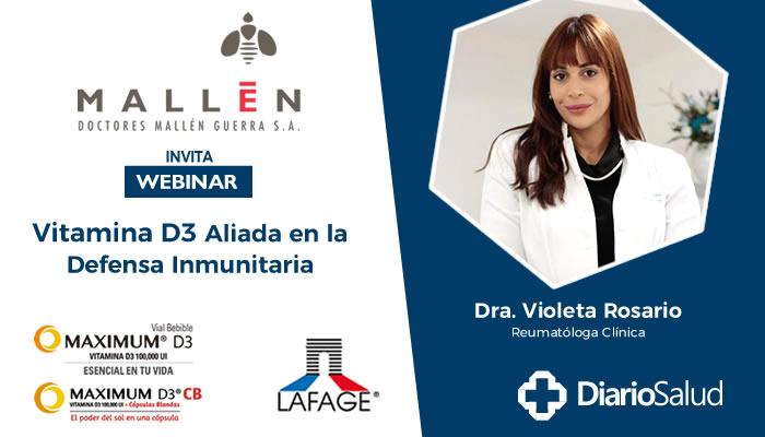 """Doctores Mallén realiza con éxito webinar  """"Vitamina D3 Aliada en la Defensa Inmunitaria"""""""