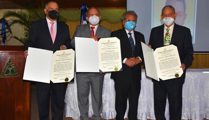 """Colegio Médico premia a tres """"Maestros de la Medicina Dominicana"""""""