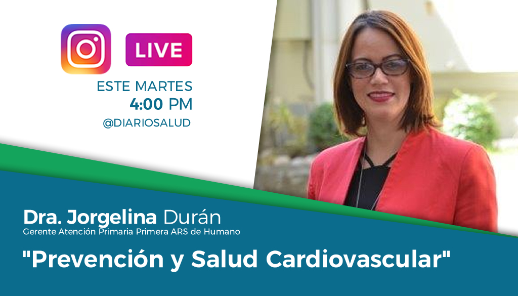 DiarioSalud.do invita a Instagram Live sobre salud cardiovascular