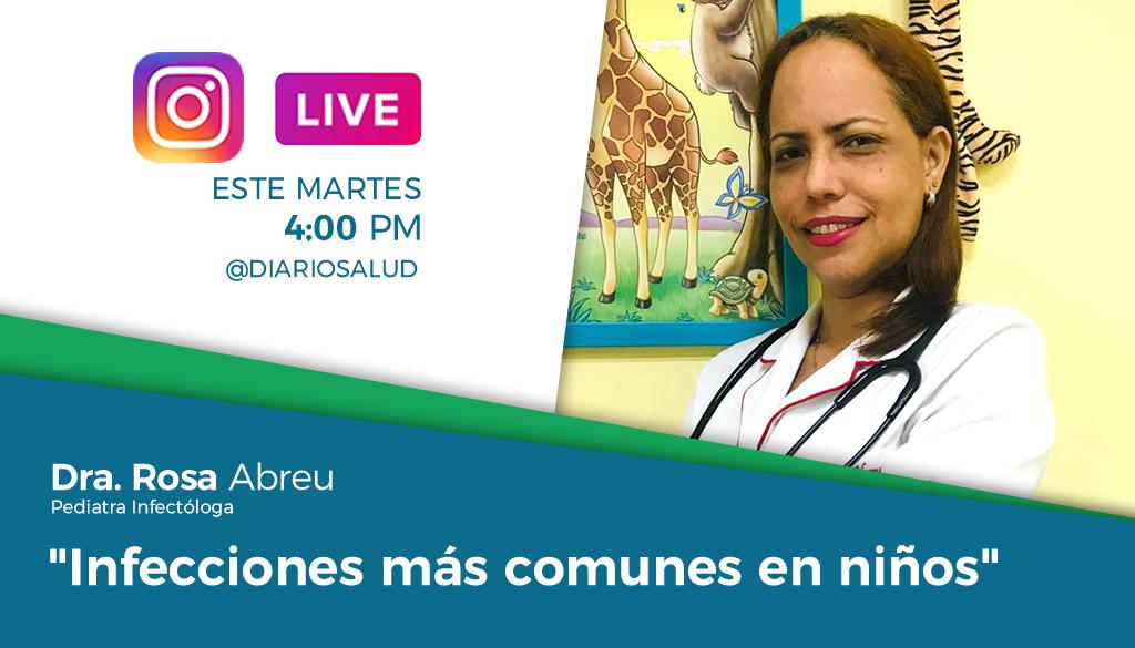 DiarioSalud.do invita a Instagram Live sobre infecciones en niños