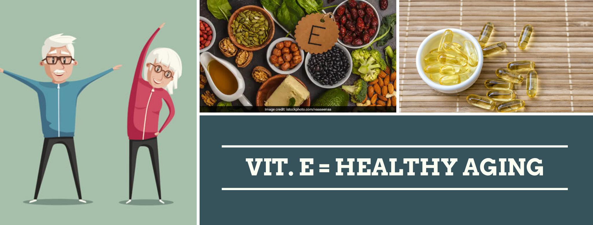 Vitamina E y su uso para un envejecimiento saludable