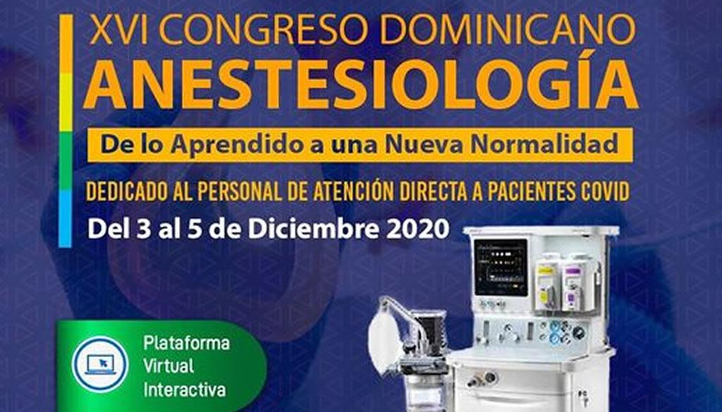 Sociedad Anestesiología anuncia XVI Congreso