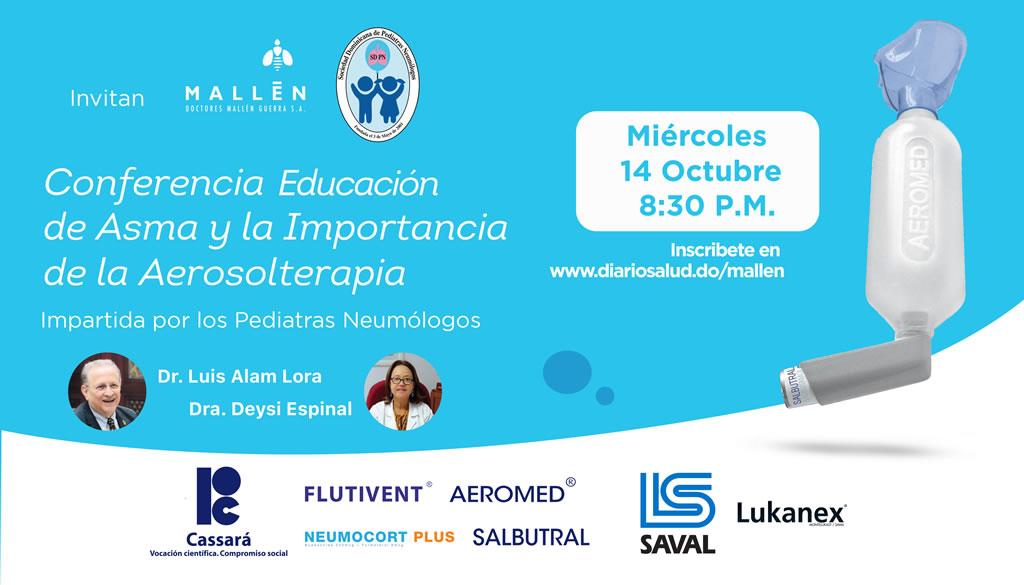 Pediatras Neumólogos invitan a conferencia sobre evaluación de asma y Aerosolterapia