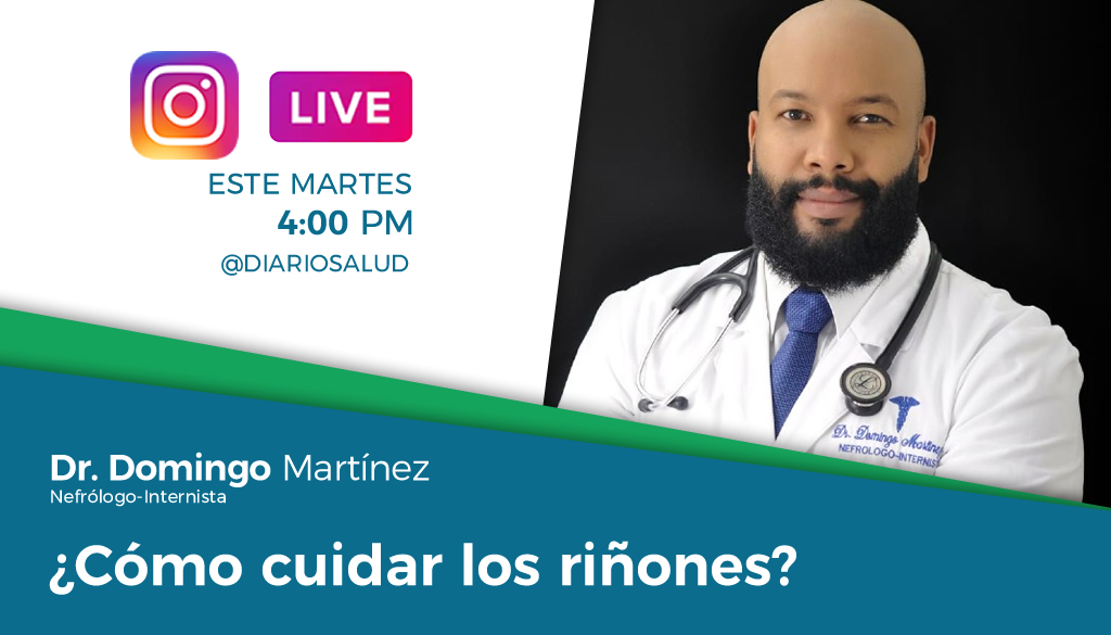 DiarioSalud.do invita a Instagram Live sobre cuidado de los riñones