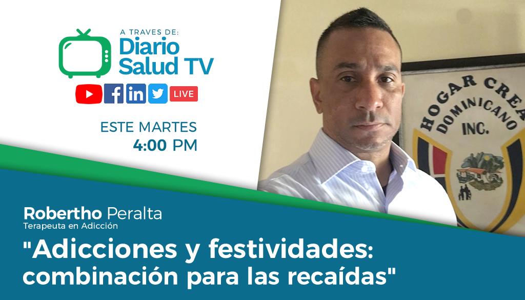 """DiarioSalud TV  invita a programa """"Adicciones y festividades: combinación para las recaídas"""""""