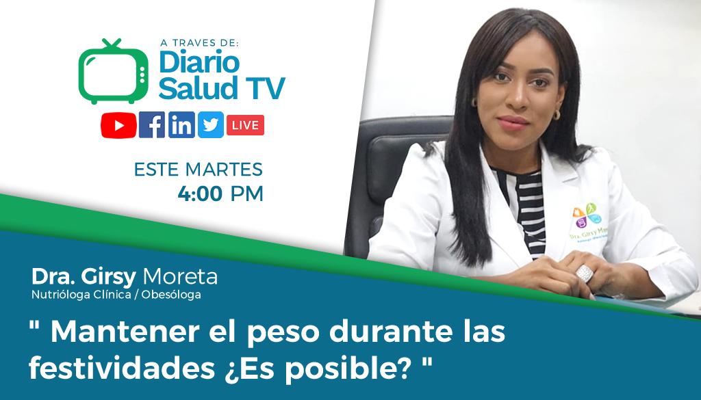 DiarioSalud TV invita a programa sobre alimentación durante festividades