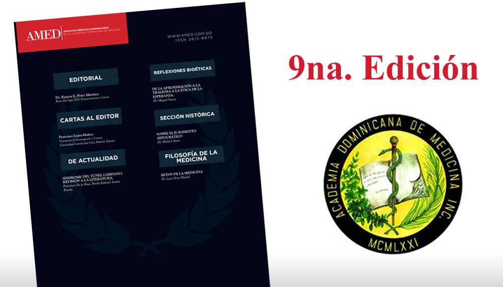 Academia de Medicina publica novena edición de Revista AMED