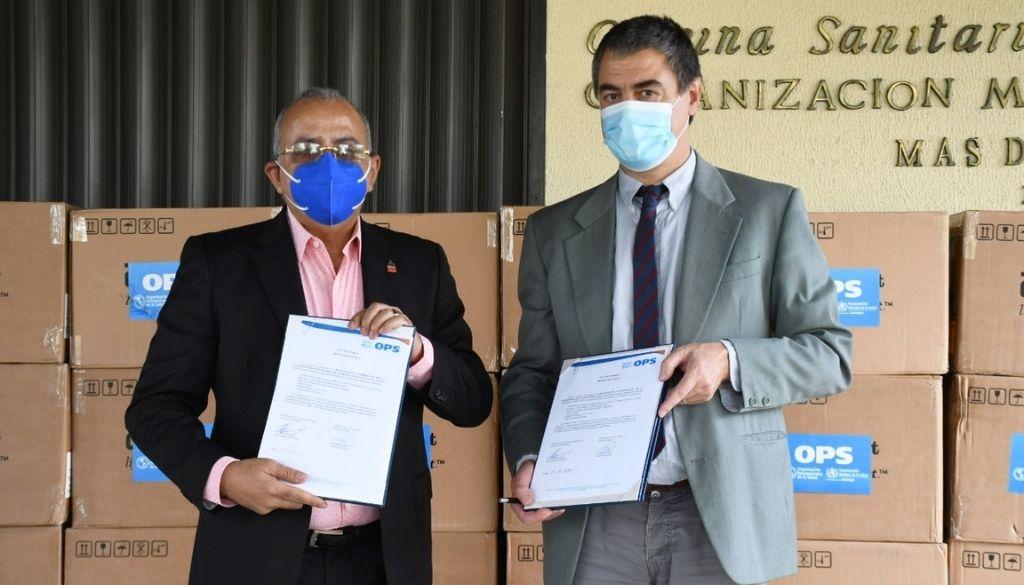 Donan 54, 400 pruebas rápidas de antígenos al Ministerio de Salud