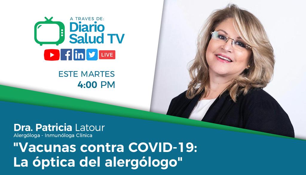 Alergóloga resalta importancia vacunarse contra COVID-19