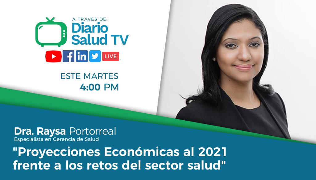 DiarioSalud TV invita a programa sobre retos en salud y proyecciones  económicas del 2021