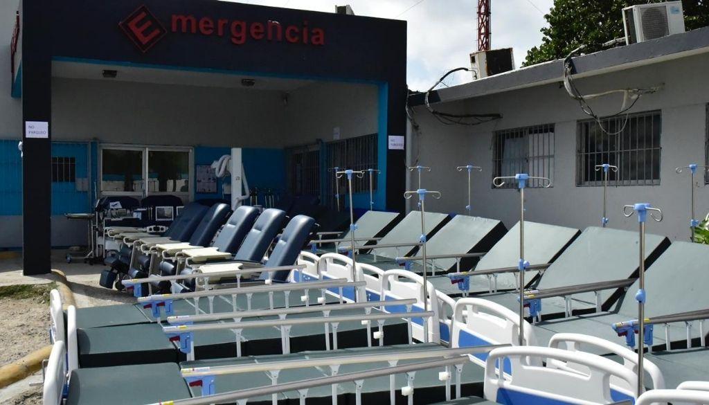 Habilitan  hospital para COVID-19 en Boca Chica