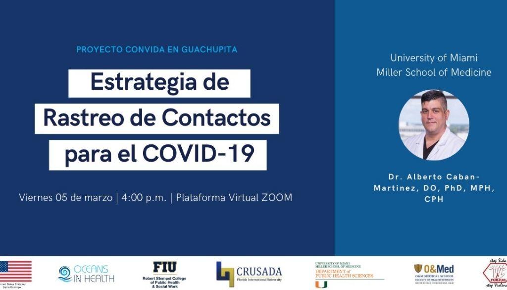 Realizarán webinar sobre rastreo de contactos para COVID-19