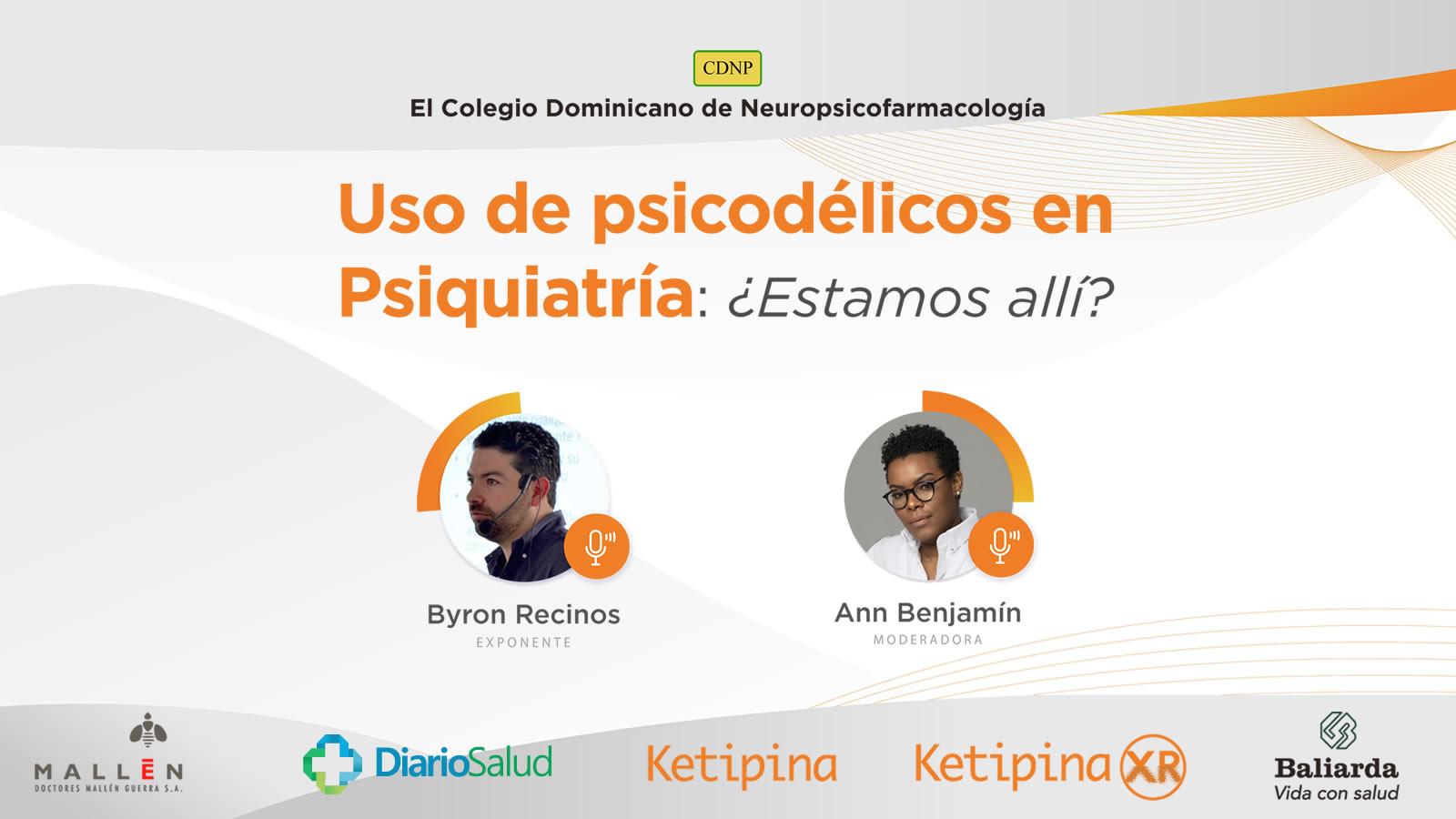Colegio de Neuropsicofarmacología invita a webinar sobre uso de psicodélicos en Psiquiatría