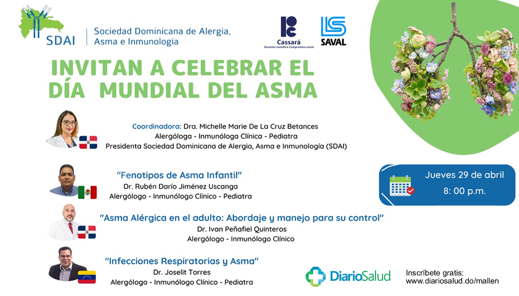 Sociedad de Alergia, Asma e Inmunología  conmemora Día Mundial del Asma