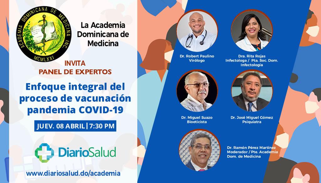 Academia de Medicina invita a panel sobre vacunación
