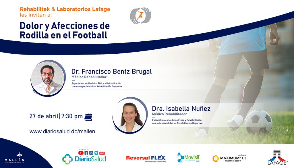 Rehabilitek y Doctores Mallén realizan webinar sobre dolor y afecciones de rodilla en el Football