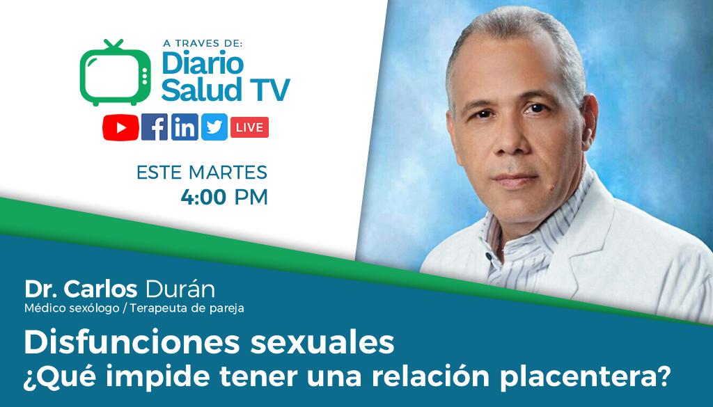 DiarioSalud TV invita a programa sobre disfunciones sexuales