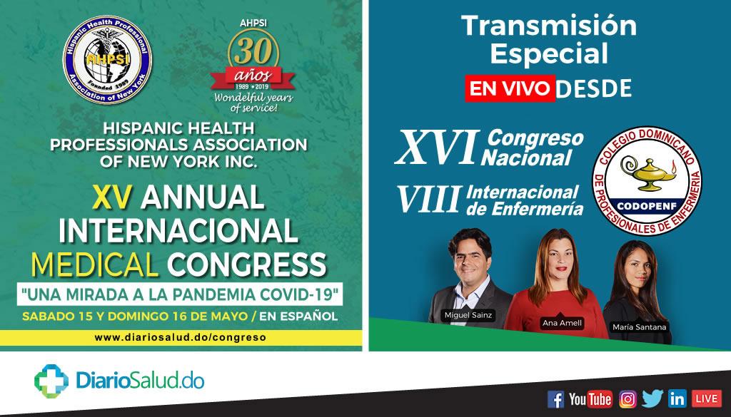 DiarioSalud con transmisión de dos congresos este fin de semana