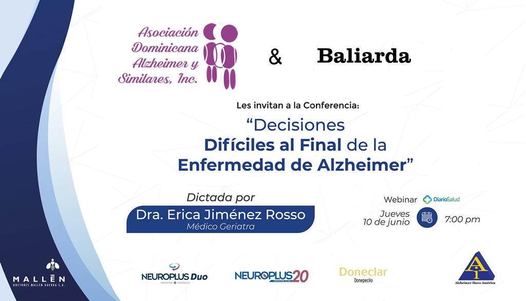 Asociación de Alzheimer habla sobre decisiones difíciles al final de la enfermedad