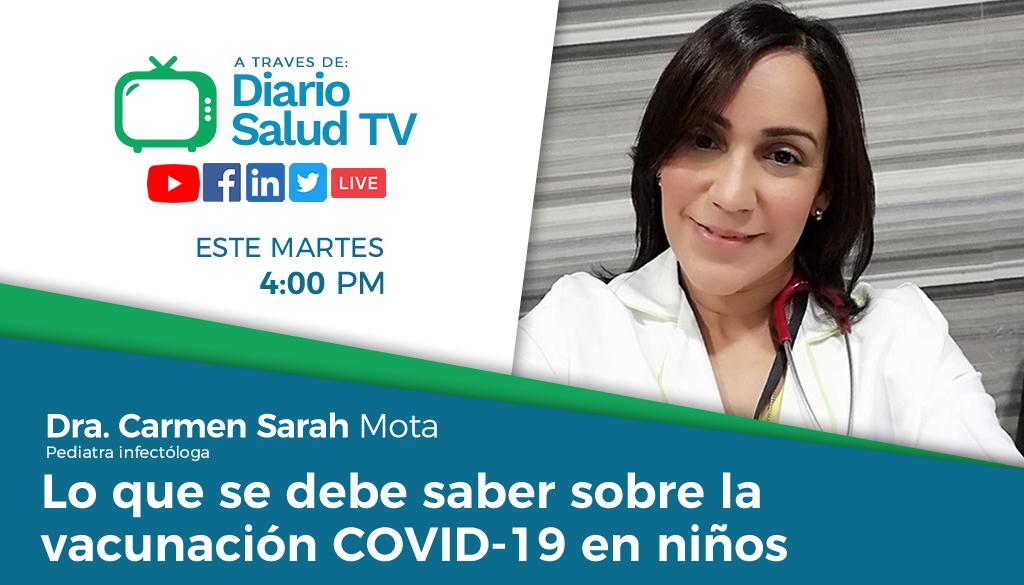 DiarioSalud TV invita a programa sobre vacunas COVID-19 en niños