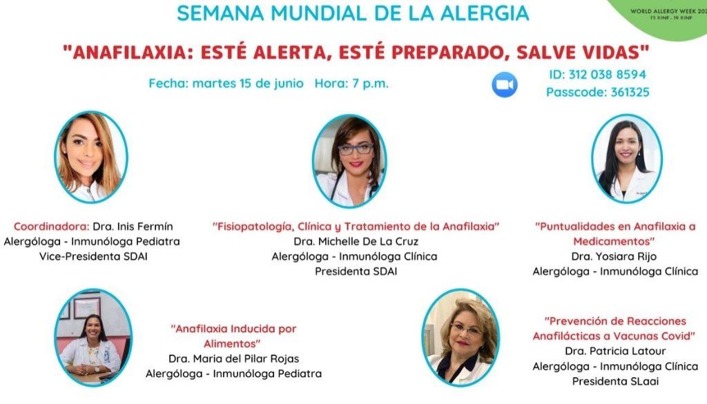 Sociedad de Alergia, Asma e Inmunología debatirá sobre Anafilaxia