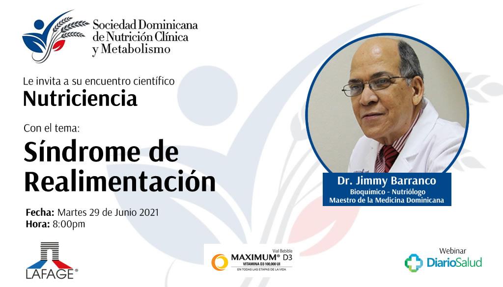 Sociedad Nutrición invita a conferencia sobre Síndrome de Realimentación