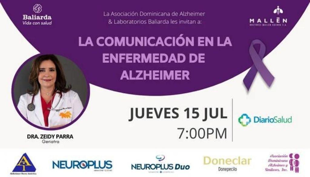 Asociación de Alzheimer invita a conferencia sobre comunicación en esta enfermedad