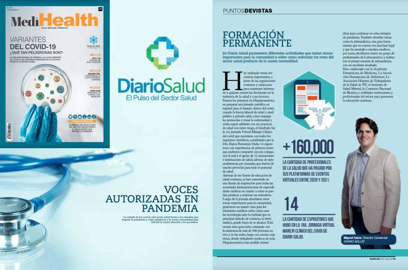 Reconocen aportes de DiarioSalud a la educación médica continua