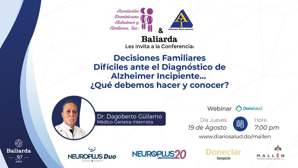 Especialista orienta sobre decisiones familiares difíciles en enfermedad de Alzheimer