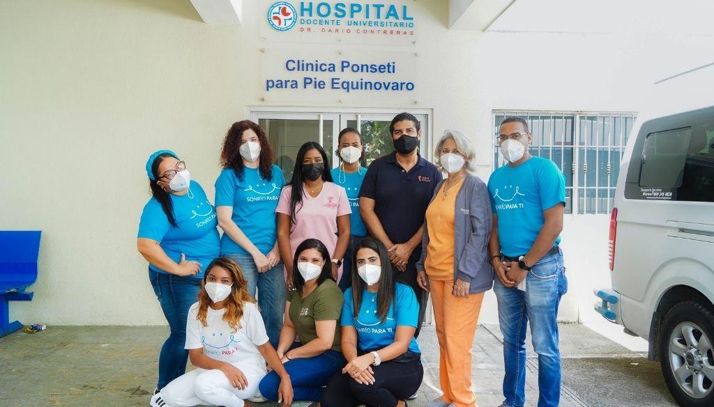 Humano de Corazón participa en jornada para niños con pie equinovaro