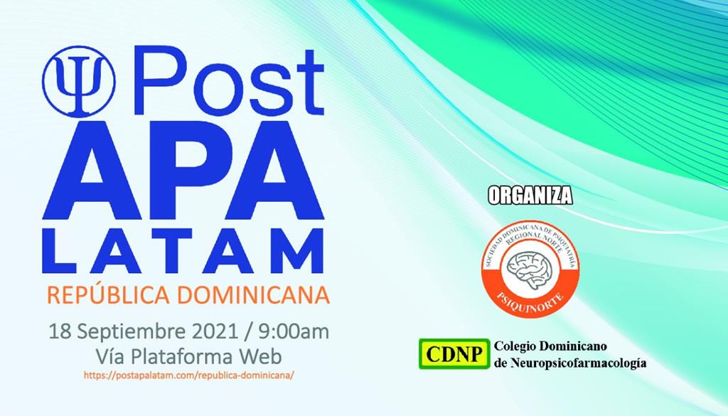 Invitan al evento Post APA Latam República Dominicana