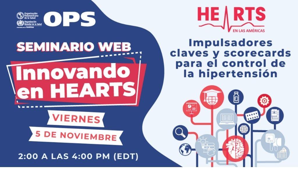Realizarán webinar innovando en HEARTS en las Américas